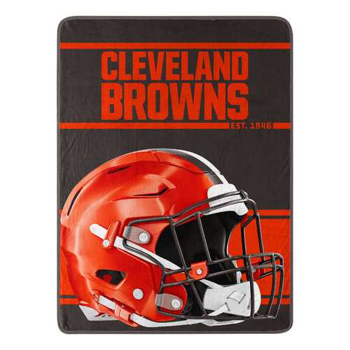 Cleveland Browns Blanket 46x60 Micro Raschel Run Design Rolled