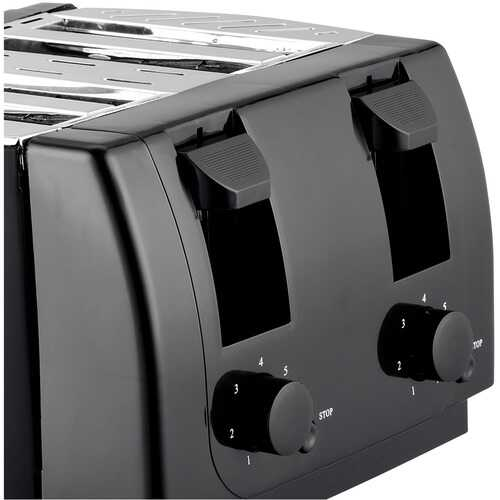Brentwood Appliances TS-285 Cool Touch 4-Slice Toaster (Black)