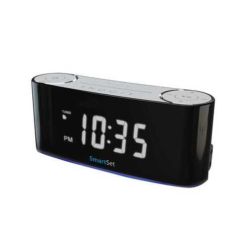 SYLVANIA SCR1229BT Bluetooth Smart Set Mood Light Clock Radio
