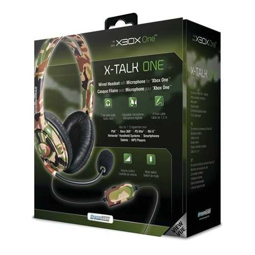dreamGEAR DGXB1-6618 Wired Headset with Microphone for Xbox One (Camo)