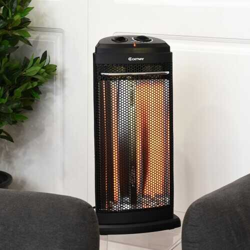 Heating Radiant Fire Tower Infrared Electric Quartz Heater