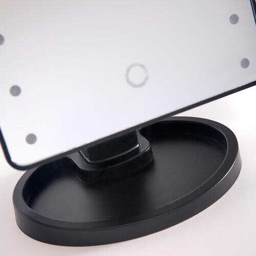Ideaworks Light Up Mirror Large 16 LED Lights Rotating Mirror Magnifier Tray Battery Powered