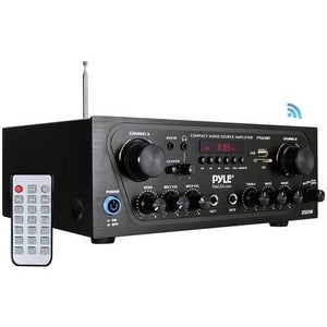 Pyle Home Compact Bluetooth Audio Stereo Receiver With Fm Radio (pack of 1 Ea)