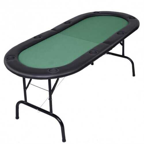 8 Players Texas Holdem Foldable Poker Table