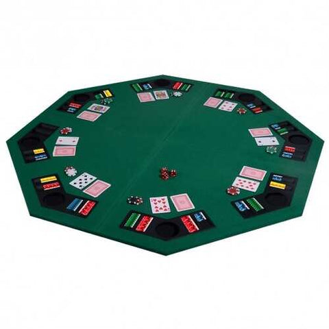 "48"" 8 Players Octagon Fourfold Poker Table Top"