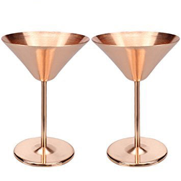 Copper Martini Glass - Glassware from our beautiful gift set collection
