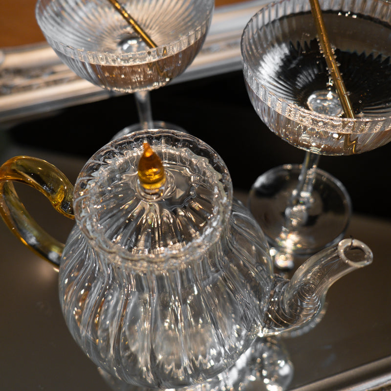 Cocktail Glass Teapot Set - luxury gift from our Brighton based online store
