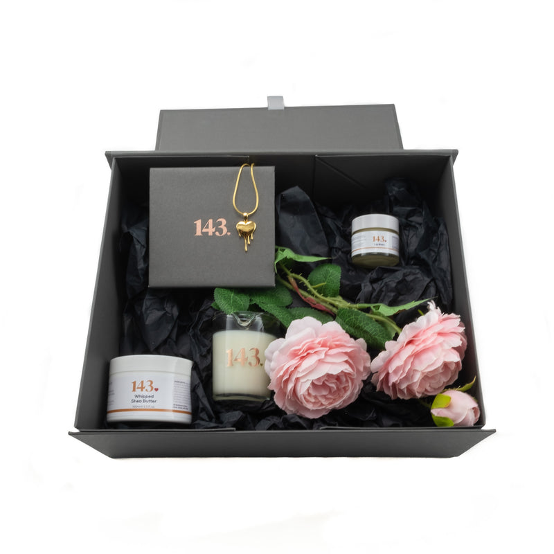 Me Time beautifully created box with all the gifts inside and a heart pendant of your choice is popular in our 143 shop
