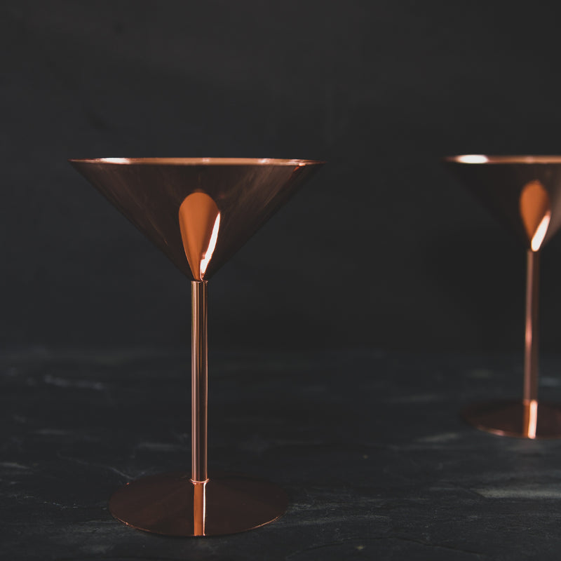 Copper Martini Glass - luxurious Glassware from 143 online store in Brighton