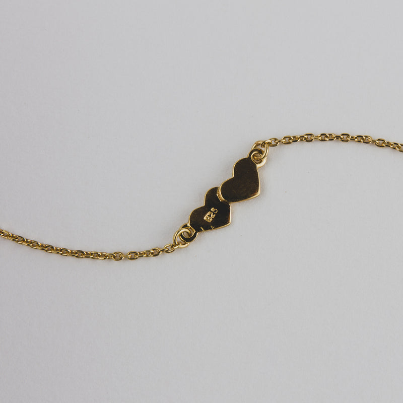 Silver Bracelet Featuring Heart plated with 18k Yellow - Quality Jewellery