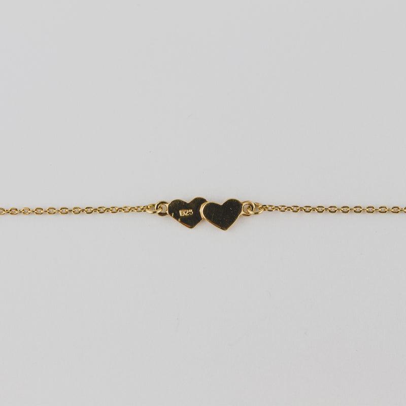 Silver Bracelet Featuring Heart plated with 18k Yellow - Jewellery
