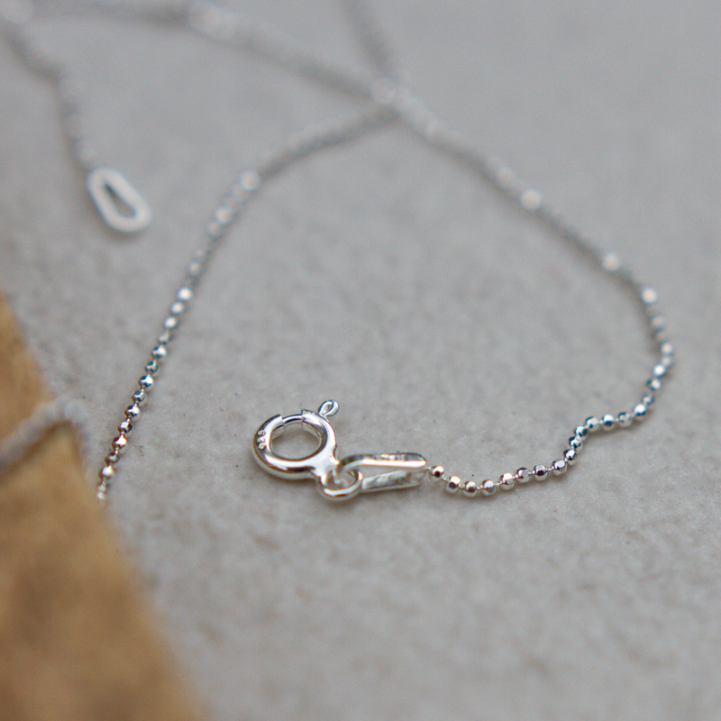 Sterling Silver Ball Chain, Plated With Pure Silver 40cm - Jewellery