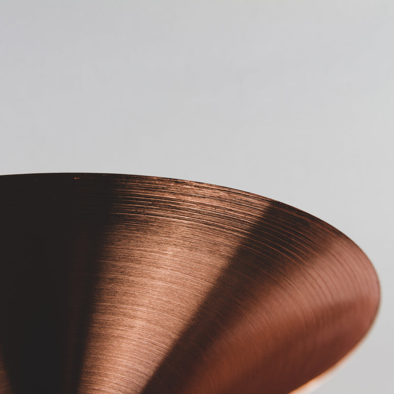 Copper Martini Glass - Glassware in detail
