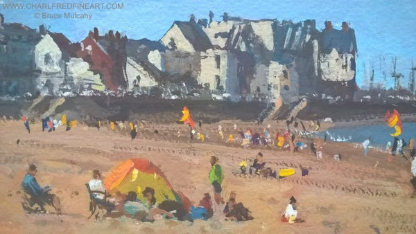 'On The Beach' Seaton Carew- Beach Painting