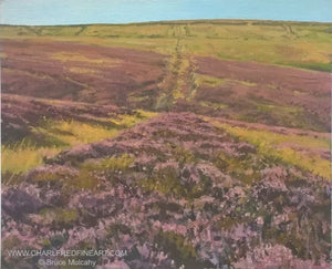 Moorland Heather landscape painting by Bruce Mulcahy.
