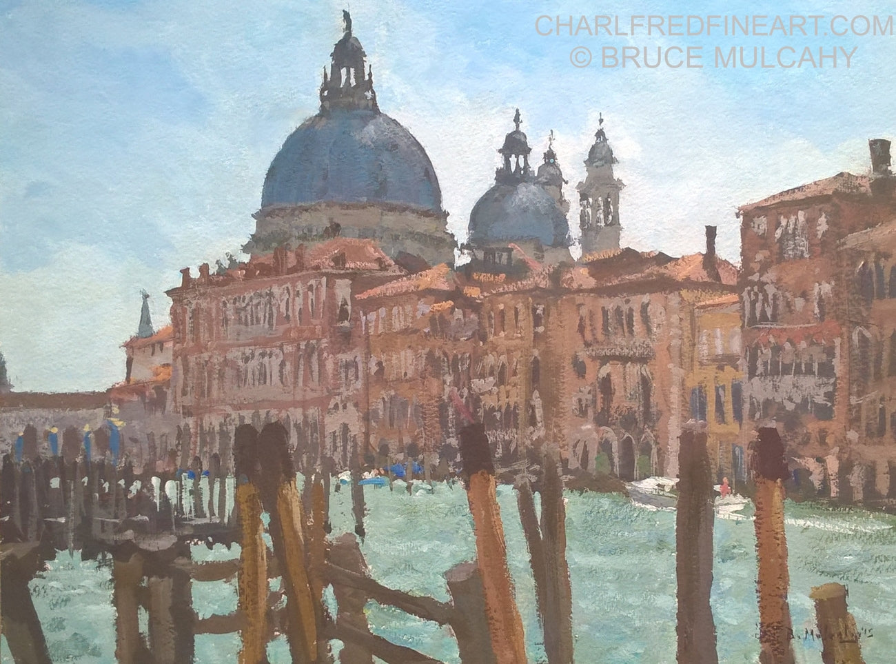 'By The Grand Canal' Venice  by Bruce Mulcahy RSMA