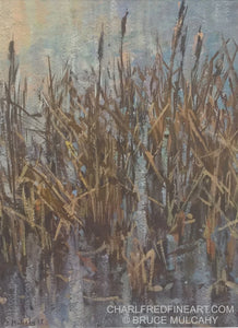 Rushes In The Lake - Bruce Mulcahy RSMA