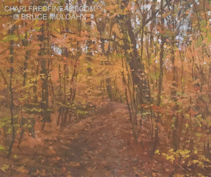 Path Through The Wood, Autumn - Bruce Mulcahy RSMA