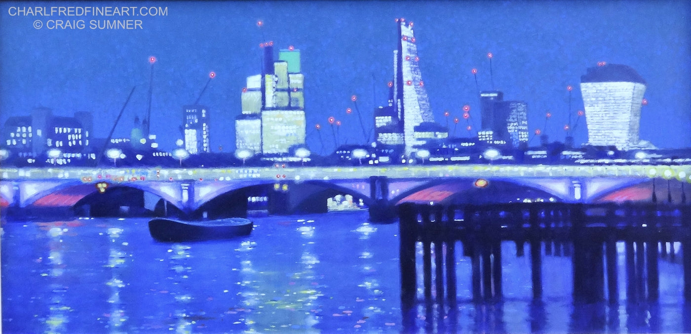 'Blackfriars Bridge' London - Cityscape Painting