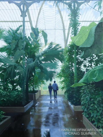 'Kew' Gardens- Oil Painting