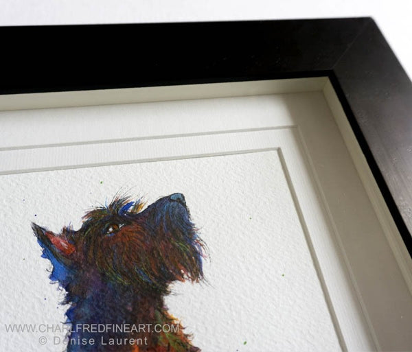 Whisky Scottie dog animal art by Denise Laurent.