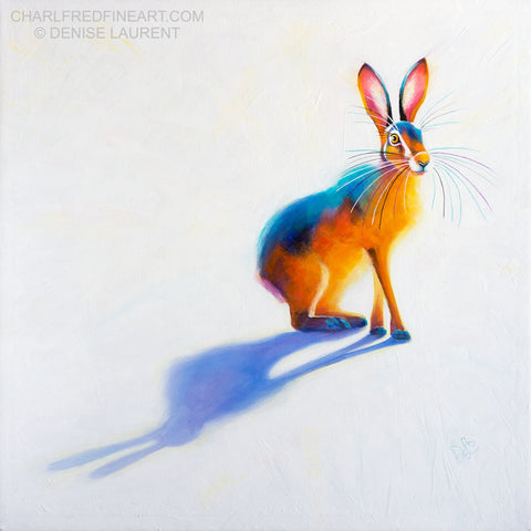 'Sunlit Hare'- Acrylic Painting
