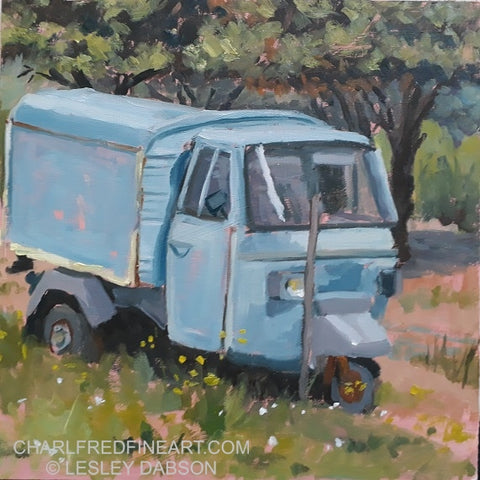 The Blue Piaggio - Lesley Dabson