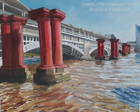 'Blackfriars Railway Bridge'- Cityscape Painting