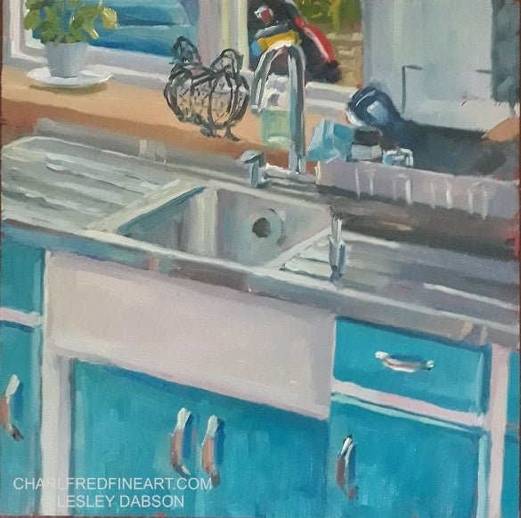 Colourful Cupboards - Lesley Dabson
