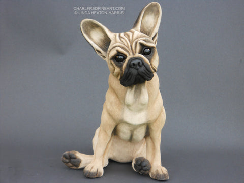 'French Bulldog' -Ceramic Sculpture