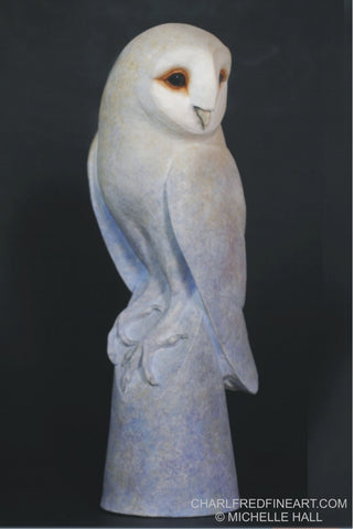 'Twilight Owl' - Ceramic Sculpture