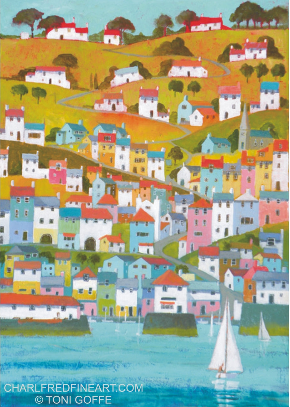 'Cornish Port' - Canvas Painting
