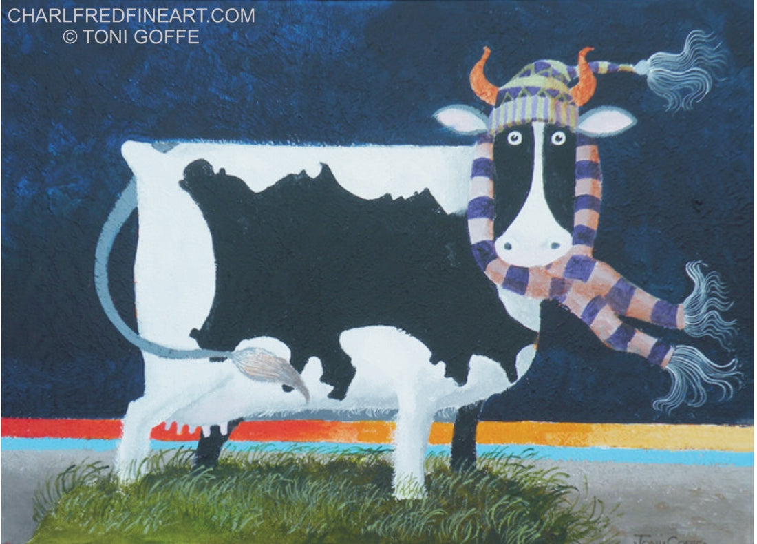 'Jersey Cow'- Acrylic Painting