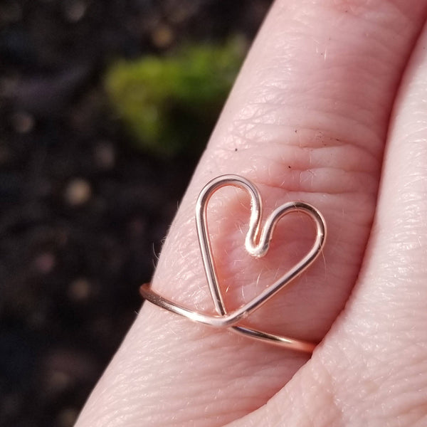 Heart Ring, Adjustable<br>FREE SHIPPING IN US