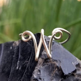W Letter Ring, Adjustable<br>FREE SHIPPING IN US