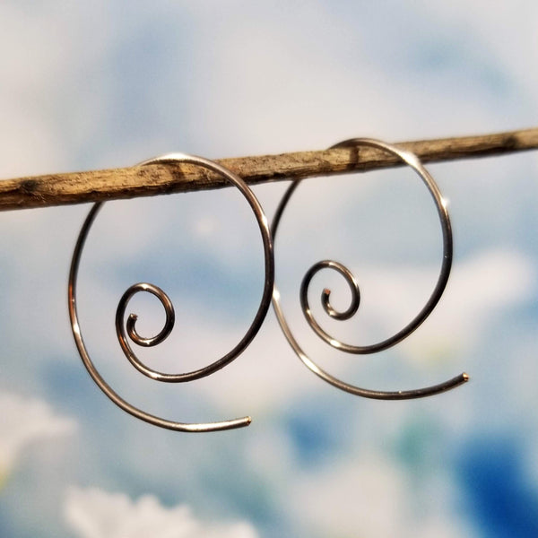 Niobium Threader Spiral Earrings
