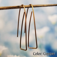 Long Triangle Earrings | 100% Hypoallergenic<br>FREE SHIPPING IN US