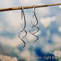 Corkscrew Spiral Earrings | 100% Hypoallergenic<br>FREE SHIPPING IN US