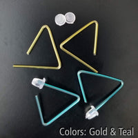 Triangle Hoop Earrings | Hypoallergenic<br>FREE SHIPPING IN US