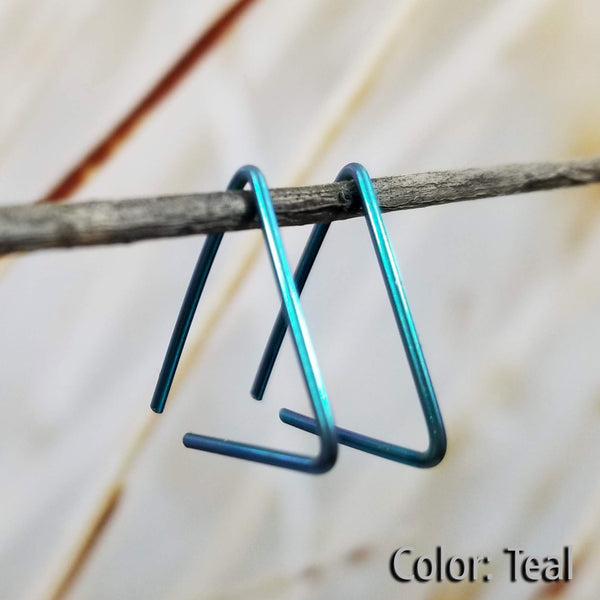 Niobium Triangle Earrings