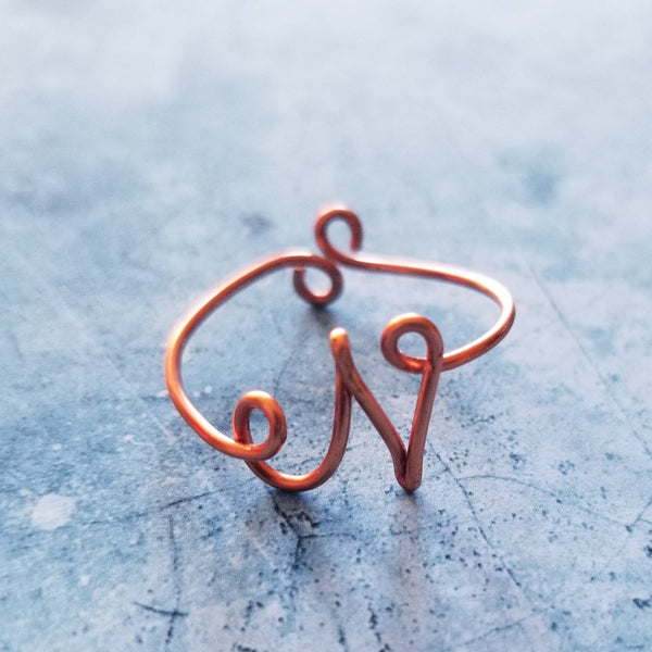 N Initial Ring, Adjustable<br>FREE SHIPPING IN US