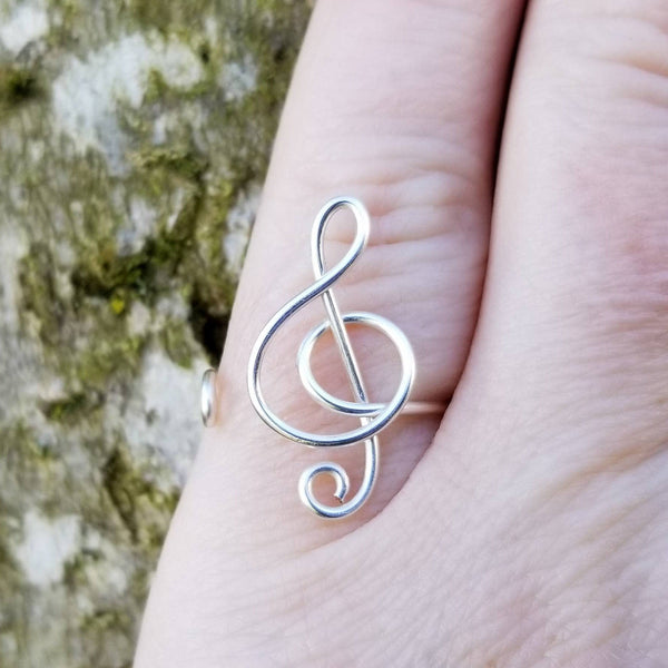 Music Treble Clef Ring