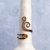 Whale Spout with Citrine Stone