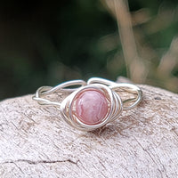 Twisted Cyclops with Pink Rhodochrosite Stone