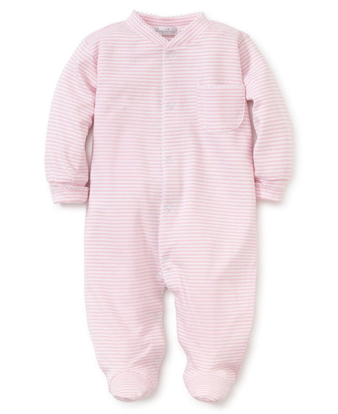 Kissy Kissy Simple Stripes Pink Footie