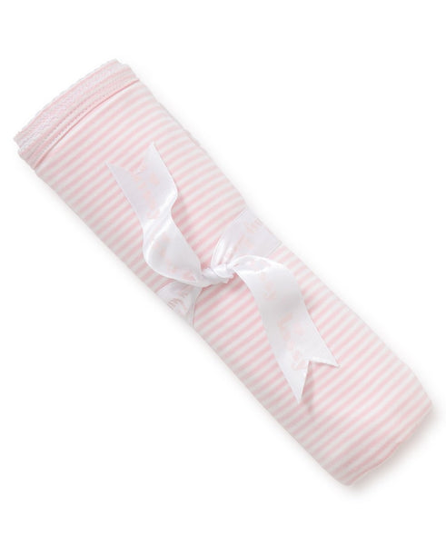Kissy Kissy Simple Stripes Pink Blanket