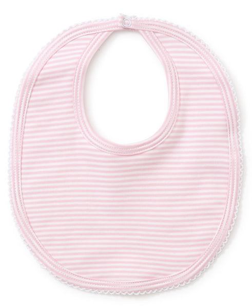 Kissy Kissy Simple Stripes Pink Bib
