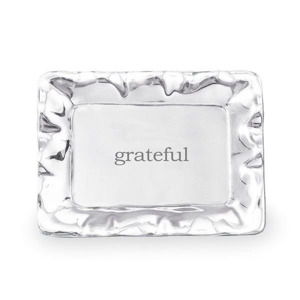 Beatriz Ball 7414 Giftables Vento Rectangle Engraved Tray (Grateful)
