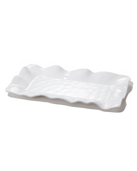 Beatriz Ball 2409 VIDA Havana Rect. Long Platter White