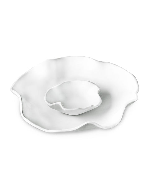 Beatriz Ball 2480 Vida Nube Bowl w/Dip  White